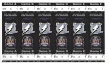 Tampabay Lightning THUNDER DOME 1995-96 Stanley Cup Playoff UnCut Sheet Tickets