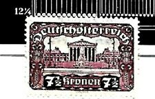 AUSTRIA; # 302c,Purple 7.5 Kronen..PERF 12.25 x 12.25. MINT UN-USED..1919-21..