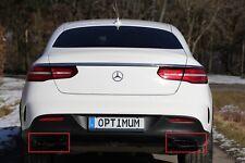 2 x V8 Look Auspuffblende Schwarz Auspuff Abdeckung für Mercedes GLE C292
