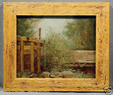 John B Bristol American Countryside Study featuring Fence, Trees and Rocks