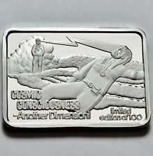 GREEN COUNTRY MINT COSMIC CONSCIOUSNESS 1 OZ .999 SILVER BAR RARE Only 100