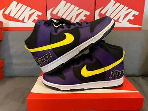 "Nike Dunk High EMB ""Lakers"" US9 EUR42.5 - Brand New Other size 9-12 available"