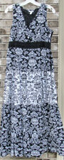 "Charter Club 54"" full-length black & white 100% cotton dress - Size 6"