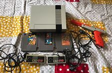 Nintendo NES System Console W/ Super Mario Bros Duck Hunt Donkey Kong Qbert