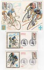 FRANCE 4 FDC enveloppes 1er jour cyclisme championnat du Monde 1972  /FDC104