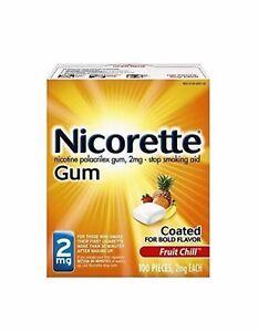 Nicorette Gum 2mg Fruit Chill 100 Pieces, Exp 2022.