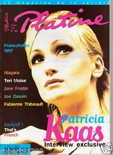 PLATINE 44./..NIAGARA..TERI MOISE..DASSIN..THIBAULT..KAAS..JANE FOSTIN./.10-97