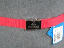 Adidas Originals Narrow Clasp belt red Men's 47 3/16in / 1in Retro NEW 658632