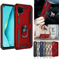Hybrid Magnetic Shockproof Ring Holder Stand Hard Case Cover For Huawei P40 Lite