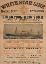 Liverpool to New York, English Travel Poster