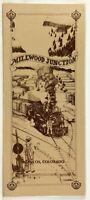 Original HUGE Vintage Laminated Menu MILLWOOD JUNCTION RESTAURANT Mancos CO