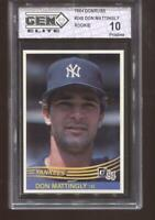 DON MATTINGLY RC 1984 DONRUSS #248 NEW YORK YANKEES GEM ELITE 10 PRISTINE