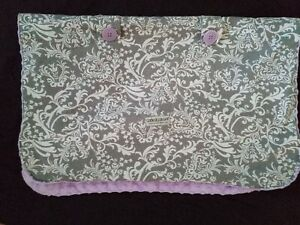 Carseat Canopy Cover Blanket Belle Purple Gray