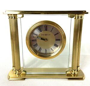 Howard Miller 613-627 Athens Mantel Mantle Shelf Quartz Clock - Brass