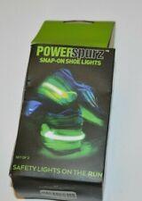 Running Shoe Safety Lights Set of 2 Neon PowerSpurz Snap-On Runner Flashing 4id