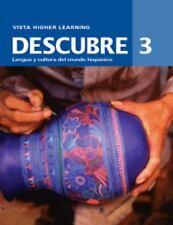 Descubre: Lengua y Cultura del mundo Hispanico, Level 3, Cuaderno de-ExLibrary