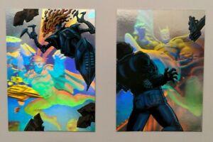 Batman and Superman Holoburst 2 1996 insert card Fleer Rare