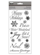 New The Paper Company SNOWFLAKE Clear Stamps Christmas Joy Noel Happy Hollidays