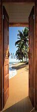 (LAMINATED) BEACH DOOR SUNRISE DOOR POSTER (53x158cm)  NEW WALL ART
