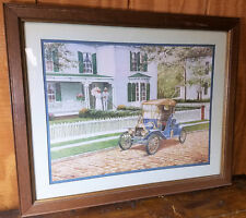 Homco Home Interior Gifts Picture Artist D Adair Early 1900s Model T Ford House