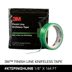 1 roll of 3M KNIFELESS FINISH LINE TAPE, 1/8''X164' NOT A KNOCKOFF! 50 METERS
