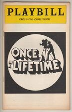 """""""Once In a Lifetime""""  Playbill 1978  John Lithgow, Treat Williams, Jayne Meadows"""