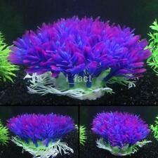 Fish Tank Aquarium Decor Accessories Artificial Water Plant Purple Plastic Grass