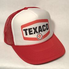 Vintage Style Texaco Truck Stop Store Gas Station Oil Trucker Hat Snapback Red