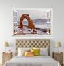 3D Snow Road Rocks 116 Open Windows WallPaper Murals Wall Print AJ Carly