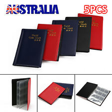 5 x120 Coin Holders Collecting Collection Storage Money Pockets Penny Album Book
