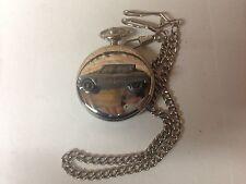 Citroen Ami 6 ref42 emblem on polished silver case pocket watch