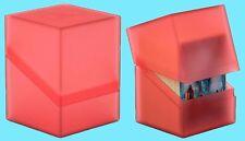 ULTIMATE GUARD BOULDER RUBY Standard Size DECK CASE 100+ NEW Card Storage Box