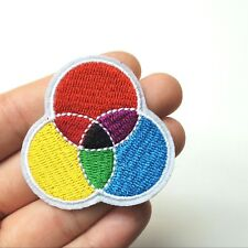 Primary & Secondary Color Wheel Model Patch, Iron-On/Sew-On Embroidered, Artist