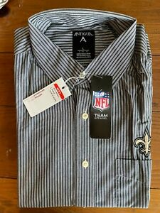 NWT Antigua NEW ORLEANS SAINTS Long Sleeve Button Down Size: Large