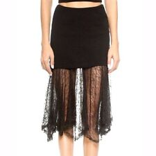 Free People Two for One Illusion Skirt Black  Sz.XS/S/M WOW! $128.00