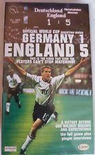 Germany 1 England 5 (VHS, 2001) Official World Cup Video of the Historic Match