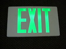 EXIT SIGNS GREEN LED Lot of 4