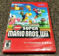 New Super Mario Bros Wii (Nintendo Wii) Clean & Tested Working - Free Shipping