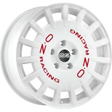 ALLOY WHEEL OZ RACING RALLY RACING 8X18 5X108 ET45 FORD FOCUS WHITE RED LETT 99F