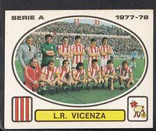 PANINI CALCIATORI FOOTBALL Adesivo 1977-78, N. 144, GRUPPO VICENZA SQUADRA