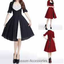 Polka Dot Dresses for Women with Buttons