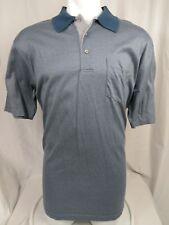 Pendleton Mens Large Shirt Short Sleeve Blue Grey Geometric Woolen Mills