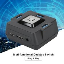 3-Port USB3.0 PC Desktop Computer Case External Power Supply Switch Reset Button