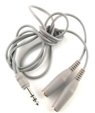 """1/4"""" Male Stereo Adapter Jack To Two Mono 1/4"""" Mono Jack Cable VTG Made in Japan"""