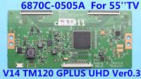 LG 6870C-0505A T-Con Logic Board V14 TM120 GPLUS UHD Ver0.3 For 55'' Sony LG