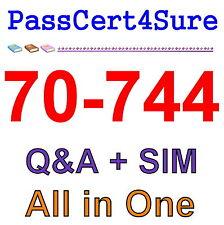 Best Exam Practice Material For 70-744 Exam Q&A+SIM