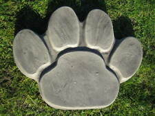 Paw print stepping stone  stone garden ornament | other designs in my shop!