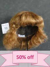 "DISCOUNT -50% - Human Hair DOLL WIG size 13"" (33 cm). Short red-brown hair."