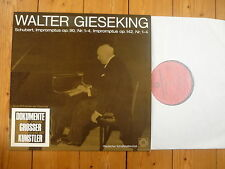 Schubert Impromptus op.142/op.90 Walter Gieseking Electrola LP