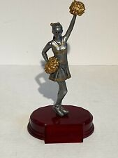 Cheerleading Trophy 8x2x3 Inches Burgundy Silver Gold